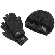 Britt's Knits ™ Men's Frontier Beanie & Gloves Set