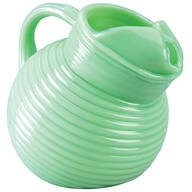 Jadeite Tilted Rib Ball Pitcher by Home Marketplace™