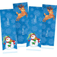 Personalized Children's Christmas Bookmarks, Set of 4