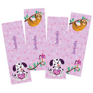 Personalized Children's Valentine Bookmarks, Set of 4