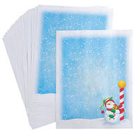 Children's Christmas Stationery Sheets, Set of 20