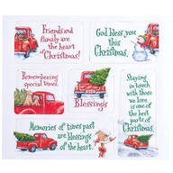 Red Truck Magnet Set of 6