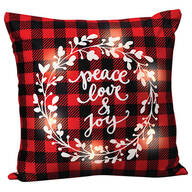 Peace, Love and Joy Light-Up Pillow