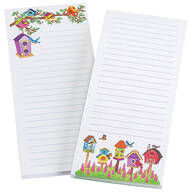 Bird House Note Pads, Set of 2