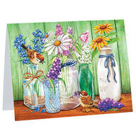 Country Flowers Notecards, Set of 20