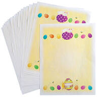 Children's Easter Stationery Sheets, Set of 20