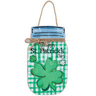 St. Patrick's Day Mason Jar Wall Hanging by Holiday Peak™
