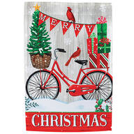 Merry Christmas Bike Garden Flag