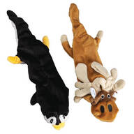 Animal Stuffing Free Dog Toys, Set of 2
