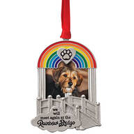 Pewter Rainbow Bridge Frame Ornament