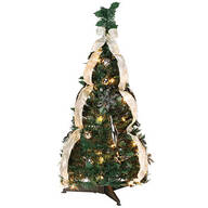 3' Silver & Gold Pull-Up Tree by Holiday Peak™