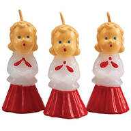 Vintage Christmas Caroler Candle Trio
