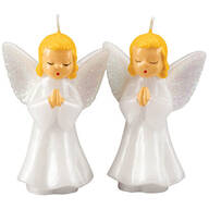 Vintage Praying Angels Candle Pair