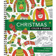Simple 1-2-3™ Christmas Color & Frame Coloring Book