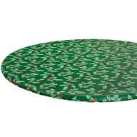 Holly Holiday Vinyl Elasticized Tablecover