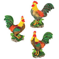 Rooster Kitchen Magnets, Set of 3 by Chefs Pride