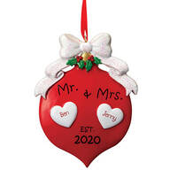 Personalized Mr. & Mrs. 2020 Ornament