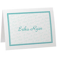 Personalized A Note From Note Cards Bright set of 20