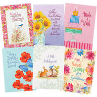 Assorted Birthday Cards with Magnet Gifts, Set of 6