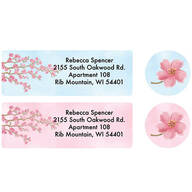 Personalized Blossoms Label and Seal Set