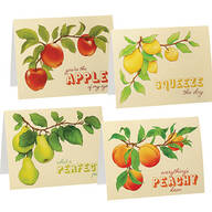 Cute Fruit Note Cards set of 20