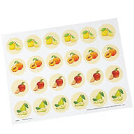 Cute Fruit Seals, Set of 48