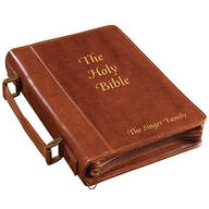 Personalized Brown Bible Case