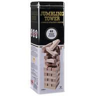 48-Piece Wood Jumbling Tower in Tin