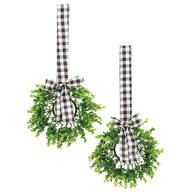 Indoor Window Wreaths, Set of 2