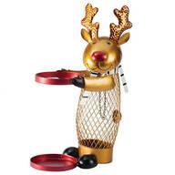 Metal Reindeer Cork and Wine Holder