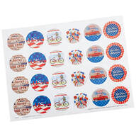 Patriotic Stickers Set of 48