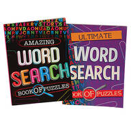 Large Print Word Search Puzzle Books Set of 2