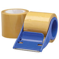 Packaging Tape and Rolling Dispenser Set of 3