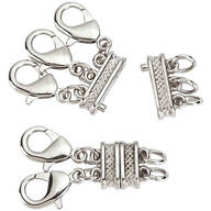 Layered Necklace Spacer with Magnetic Clasp 2-Pc. Set