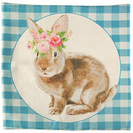 Spring Bunny Accent Pillow Cover