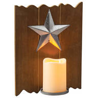 Barn Star LED Candle Wall Sconce