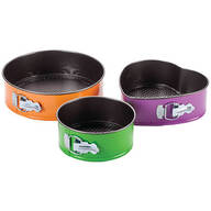 Colorful Springform Pans, Set of 3