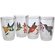 Insulated Hummingbird Tumblers, Set of 4