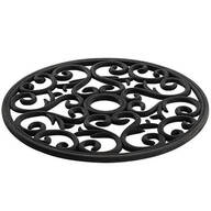 Black Scroll Silicone Trivet