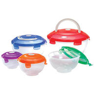 Locking Bowl Set with Handles, 10-Piece Set