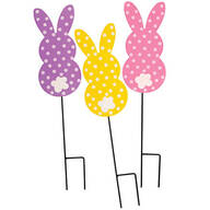 Polka Dot Bunny Stakes, Set of 3 by Fox River™ Creations