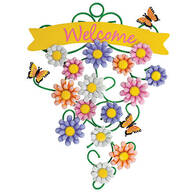 Spring Flowers Metal Welcome Sign by Fox River™ Creations