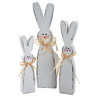 Wood Tabletop Bunnies Set of 3 by Holiday Peak™