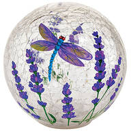 Dragonfly LED Crackle Decorative Glass Ball