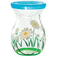 Spring Daisy Glass Tealight Holder