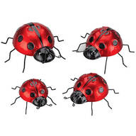 Metal Ladybug Hangers, Set of 4 by Fox River™ Creations