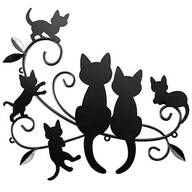 Cats & Kittens Black Metal Wall Décor
