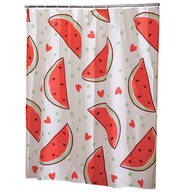 Watermelon Cloth Shower Curtain