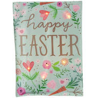 Happy Easter Lighted Garden Flag