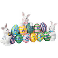 Resin Happy Easter Bunny Table Sitter by Holiday Peak™